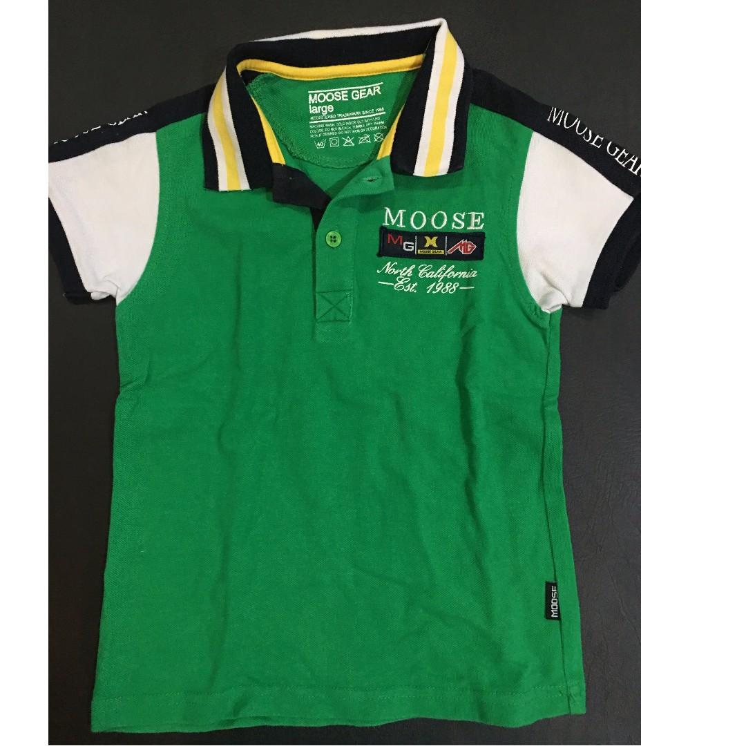 Moose Gear Green polo shirt (2-4yo)