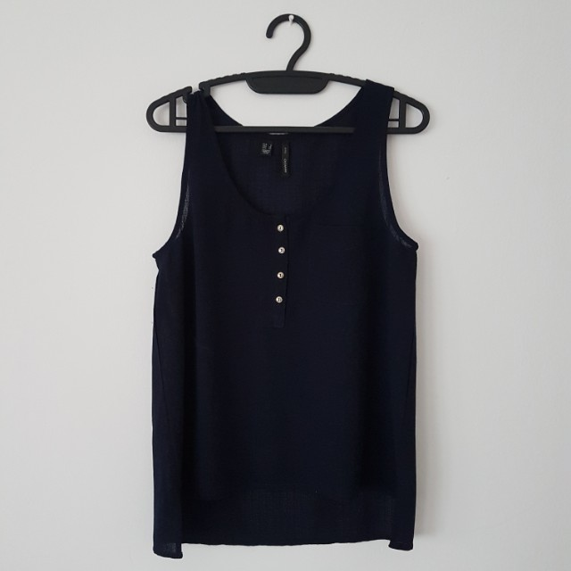 Navy top - Mango