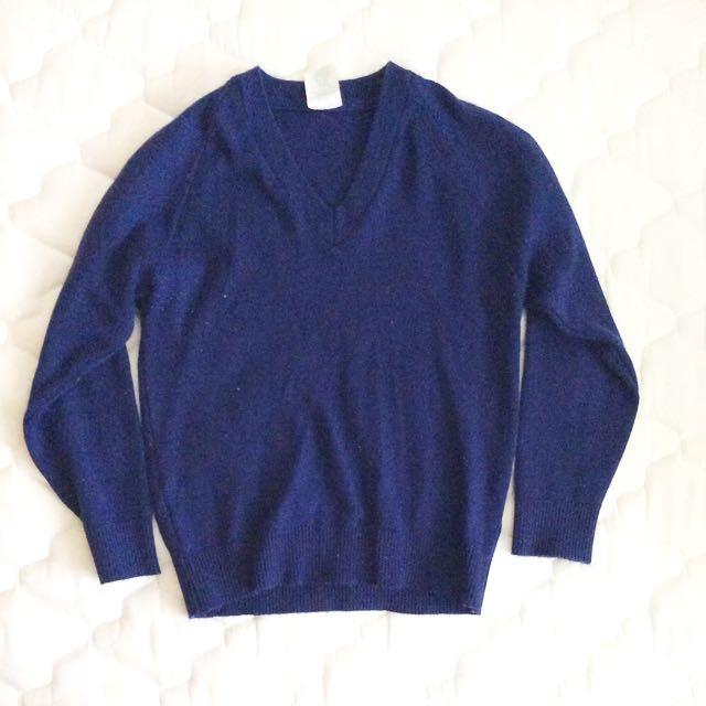 Navy Wool Jumper