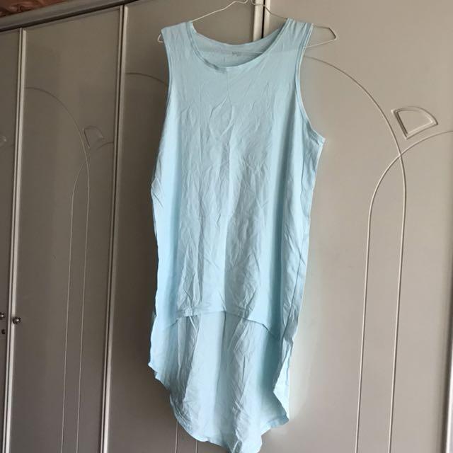 (NEW) Blue Assymetric Top