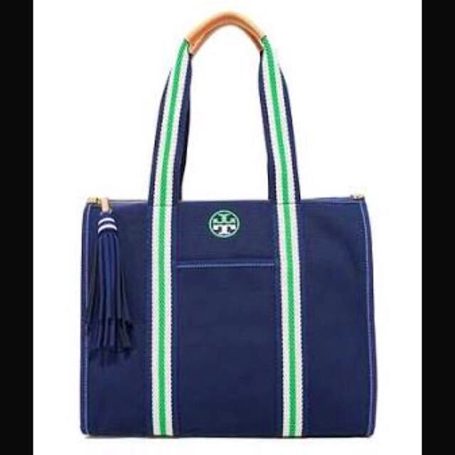 New Tory Burch Canvas Tote Bag FREE SHIPPING