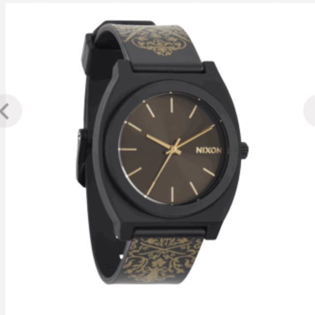 NIXON Time Teller P Black/Gold Ornate Watch