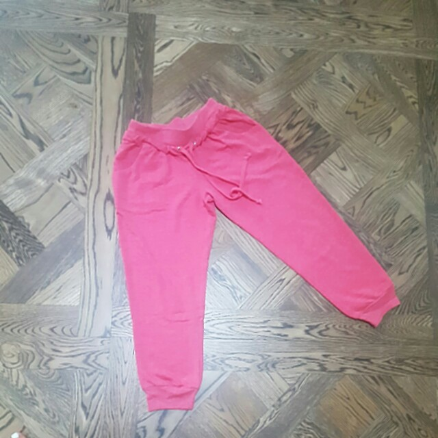 Pink 3/4 Track Style Pants