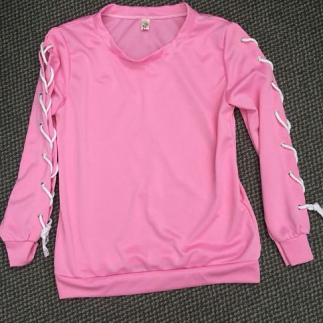 Pink long sleeves blouse