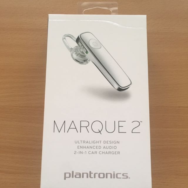 Plantronics Marque 2 M165 Bluetooth Headset White Colour Mobile Phones Tablets Mobile Tablet Accessories On Carousell