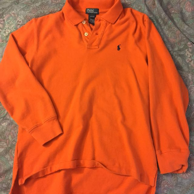 Polo by Ralph Lauren, Orange Long sleeve Top