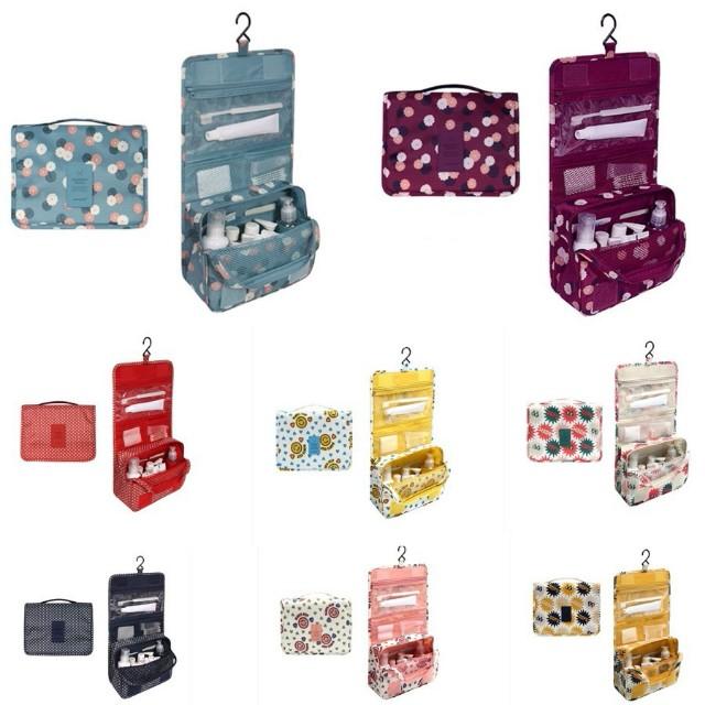 Portable toiletry cosmetic hanging organizer bag