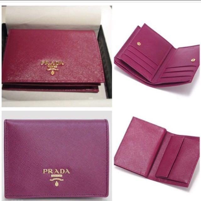 44ad231d5c78 Prada Amythest (Ametista) Saffiano Metal Medium Wallet BNIB (Rarely ...
