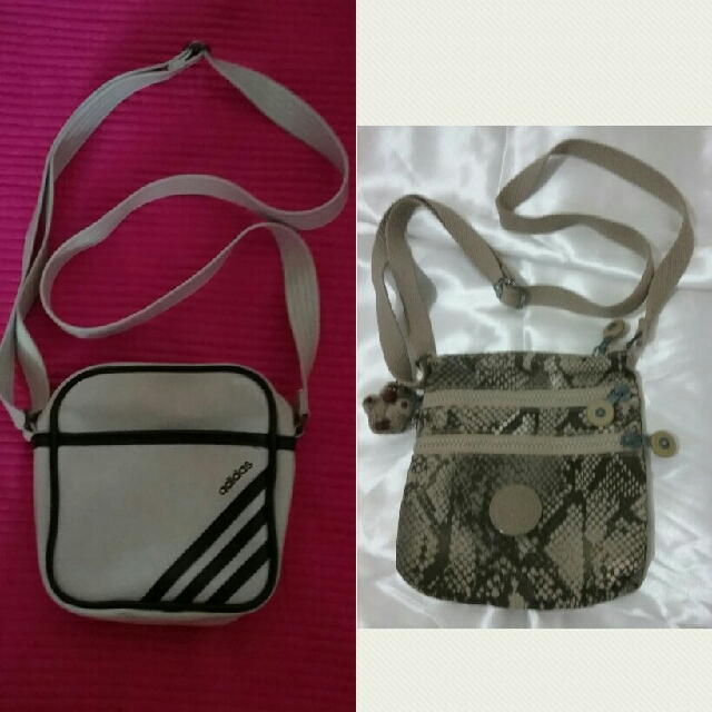 0865dde46432 pre💖 authentic kipling and adidas cutie sling bags