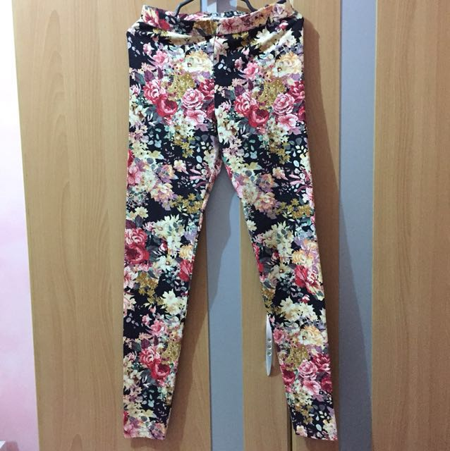 Promod floral leggings