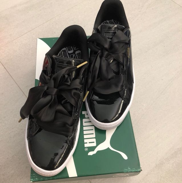 new products 41ba5 9b81e Puma Basket Heart Patent Wn's (Authentic)