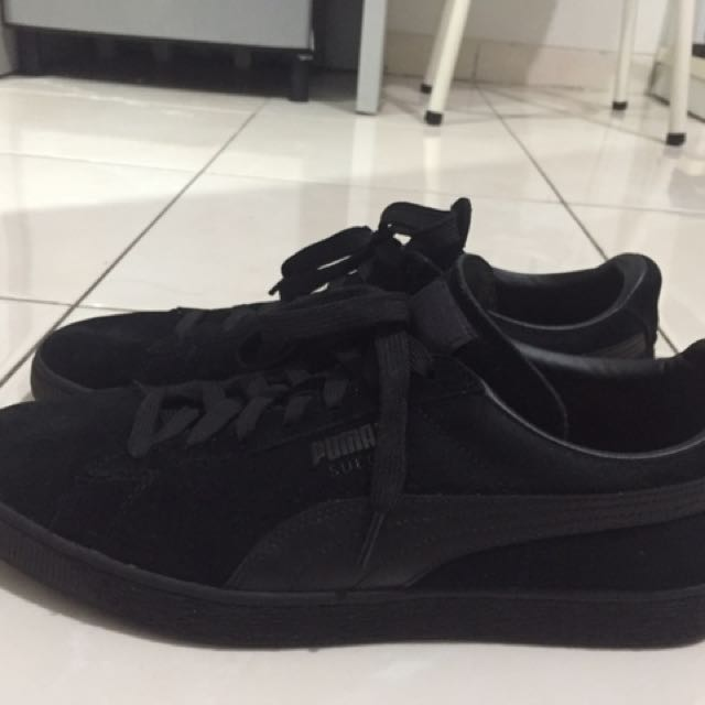 Puma Suede - All Black Size 45/11