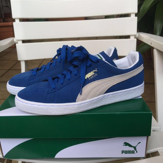 new products e7da9 687f5 PUMA Suede Classic+ Royal Blue, Men's Fashion, Footwear on ...