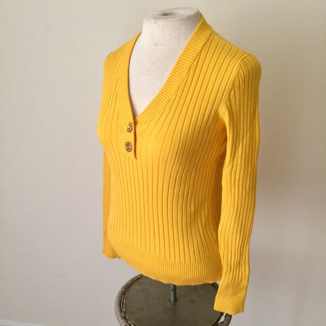 Ralph Lauren Yellow Ribbed Sweater