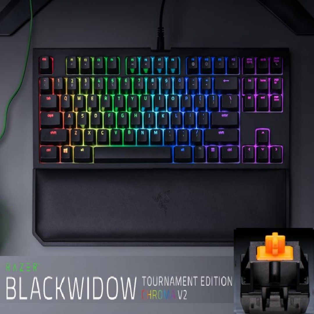 91237648387 Razer BlackWidow Tournament Edition Chroma V2 – Mechanical Gaming ...