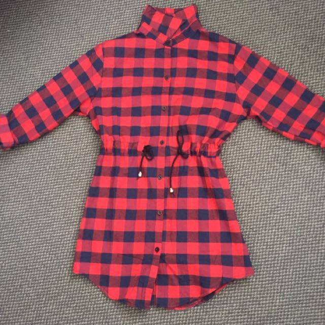 Red Checked Blouse