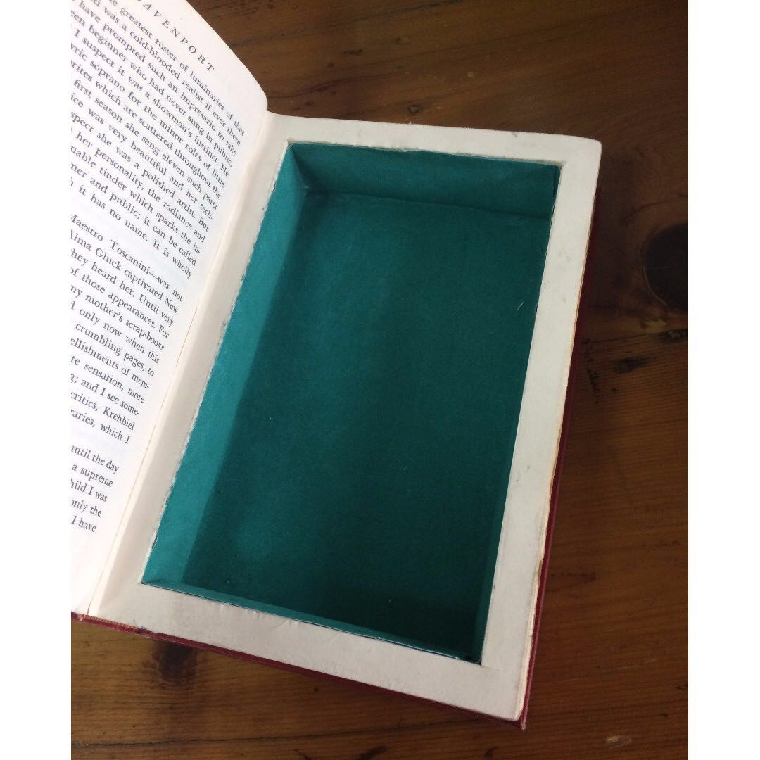 Secret Book Safe Homemade Red On Carousell