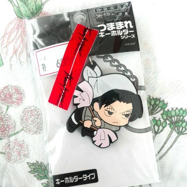 SnK Anime Keychain: Cleaning Levi