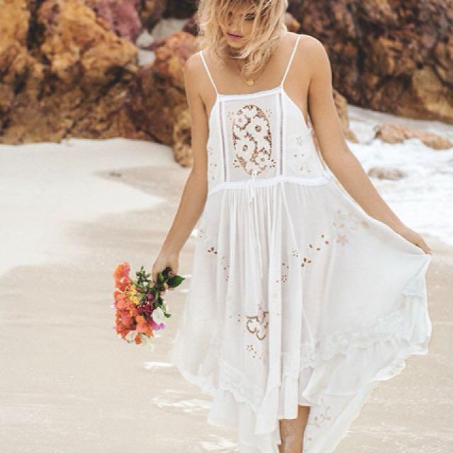 SPELL Isla Bonita Embroidered Dress - Size XS