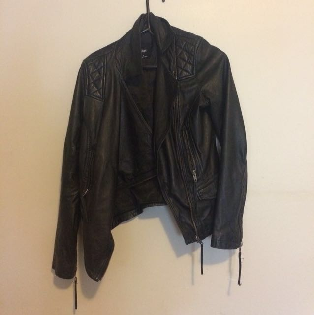 Sportsgirl leather jacket size 8