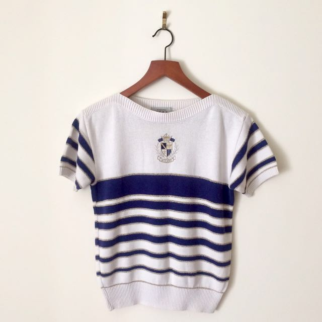 Stefano Deux Milano Striped Knit Top