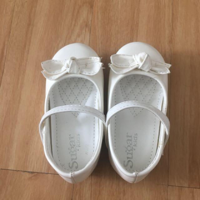Sugar kids  white shoes size 23