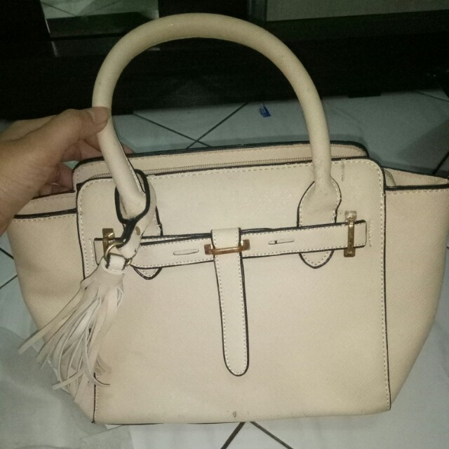 Tas import color beige