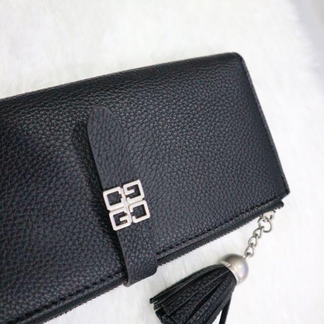 Tassle Leather Wallet (Black)