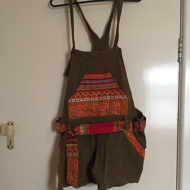 Thai Hill Tribe Cotton Overalls