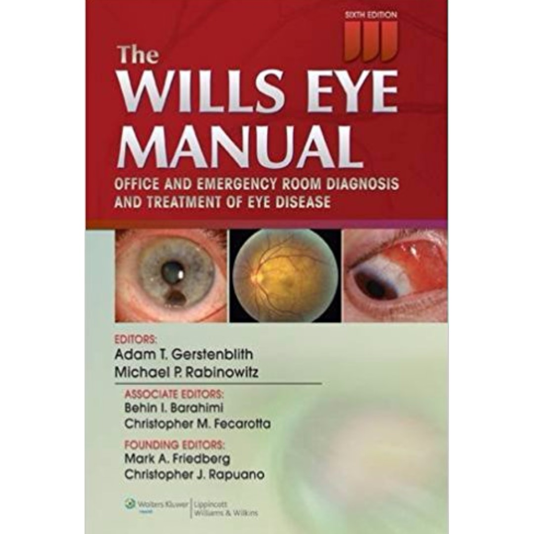 the wills eye manual office and emergency room diagnosis and rh sg carousell com wills eye manual 6th edition pdf wills eye manual sixth edition