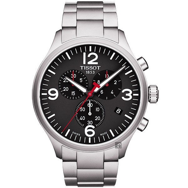 TISSOT 天梭 韻馳系列 Chrono XL計時手錶-黑/45mm(T1166171105700)