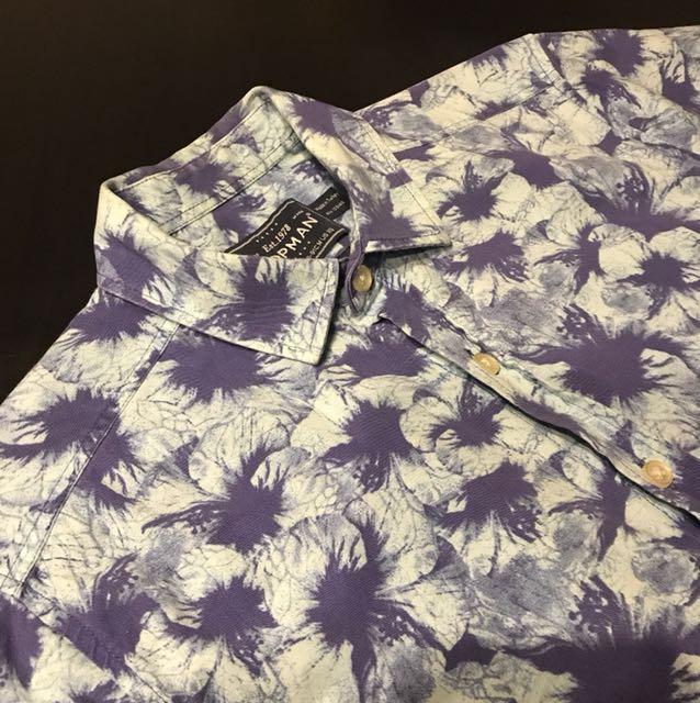 Topman Floral Shirt Classic Fit XS