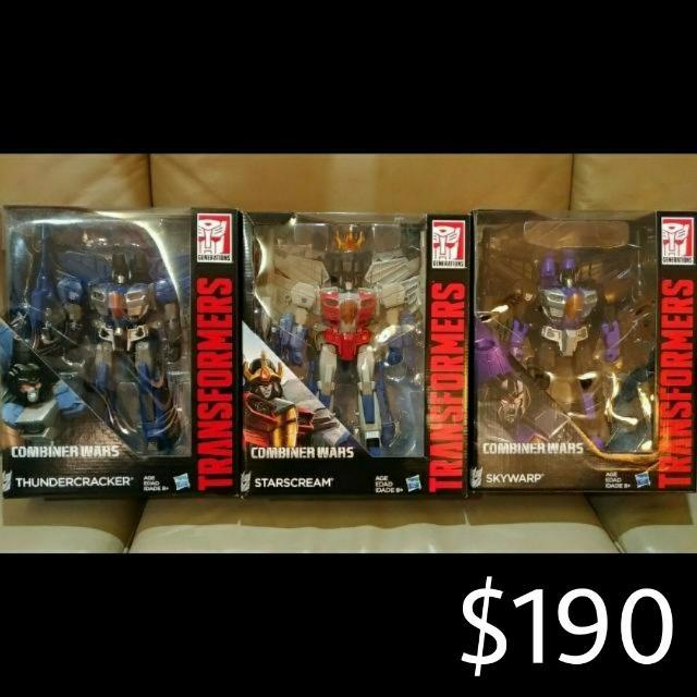 Transformers Generations Combiner Wars - Leader Class Decepticon Seekers: Starscream, Skywarp & Thundercracker, Toys & Games, Bricks & Figurines on ...