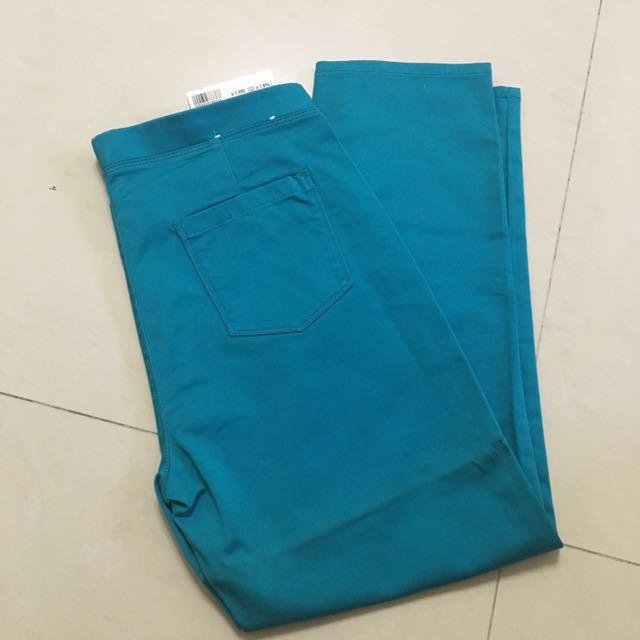 Uniqlo 日本 泰瑞色 橘黃色 鬆緊七分褲