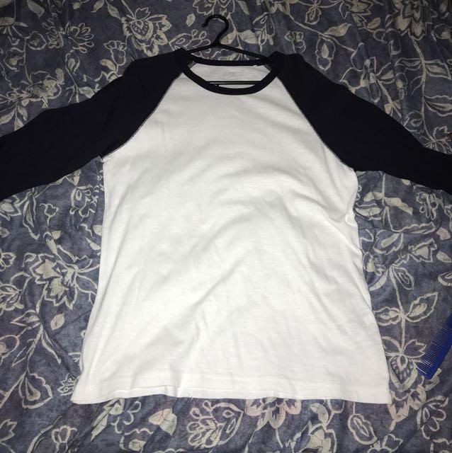 Uniqlo Baseball Shirt (3/4 Sleeves)