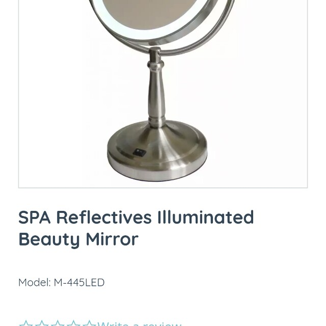 Vanity mirror with led light