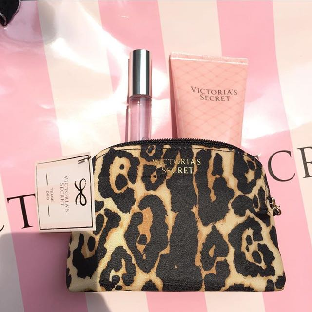 Victoria's Secret Tease Set (pouch, Rollball, Lotion)