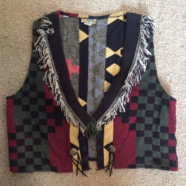 VINTAGE funky One-of-a-kind Vest