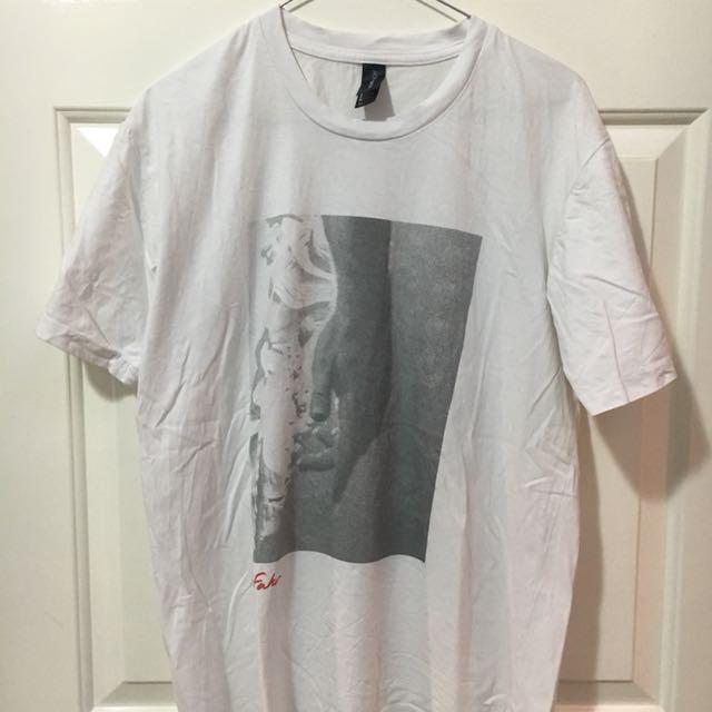 White Chet Faker T-shirt