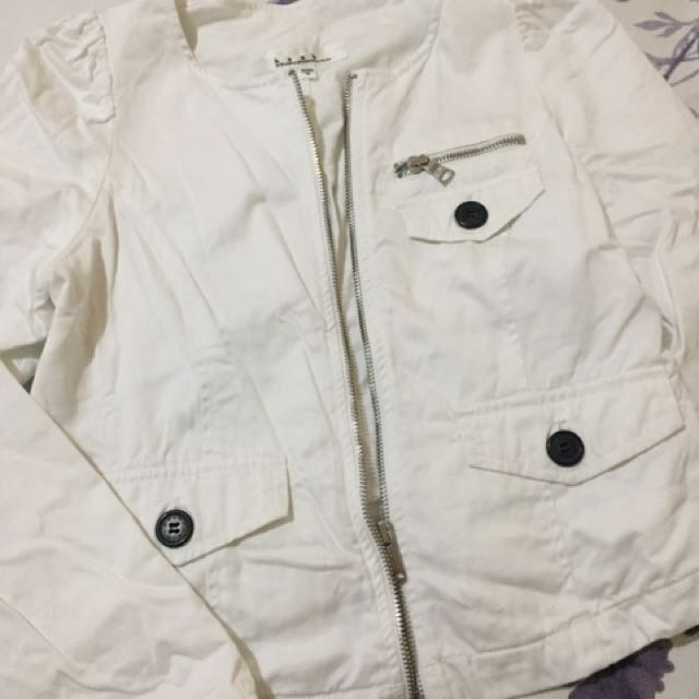 White cute blazer