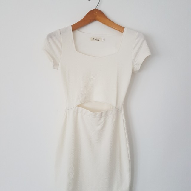 White simple dress