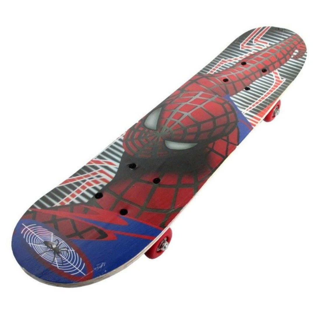 Wooden Spiderman Skateboard Toys Toy Gift