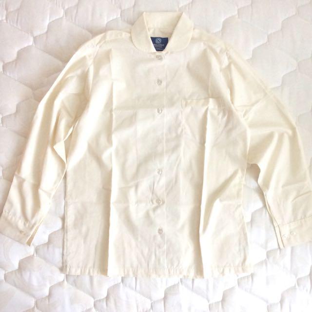 Cream Yellow Work/School Shirt
