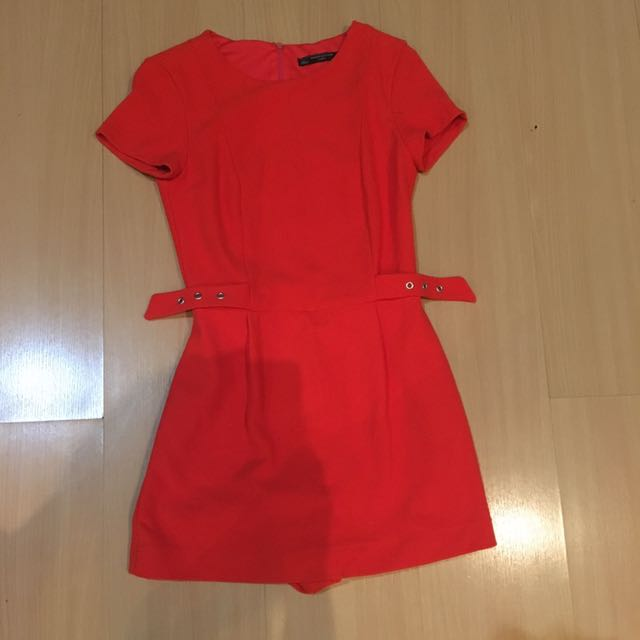 Zara orange jumpsuit