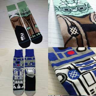 代購 (無現貨) $72/pair R2D2 yoda MEN'S SOCKS 男裝 襪 Star wars long socks 襪 winter 男女裝 情侶裝 星球大戰 冬裝 r2-d2