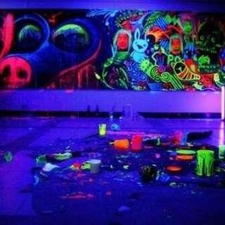 Cat UV Paint Body Painting