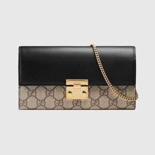 Gucci, Continental Wallet GG Supreme Black