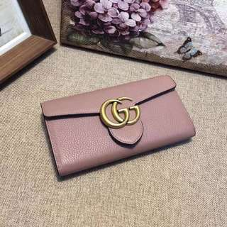Gucci, Marmont Continental Wallet Pink
