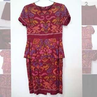 Dress batik motif tenun😍