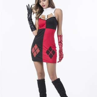 Harley Quinn Jester Dress Costume